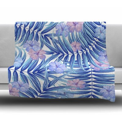 Hawaiian Pattern by Marta Olga Klara Fleece Blanket Size: 50 W x 60 L