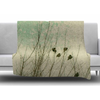 Braving The Cold by Sylvia Coomes Fleece Blanket Size: 50 W x 60 L