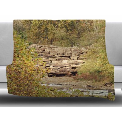 In The Woods 4 by Sylvia Coomes Fleece Blanket Size: 50 W x 60 L