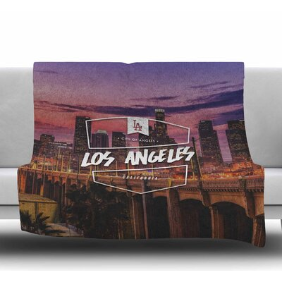 Los Angeles Fleece Blanket Size: 50 W x 60 L