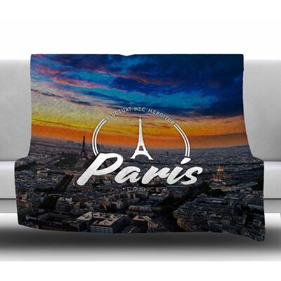 Paris Fleece Blanket Size: 60 W x 80 L
