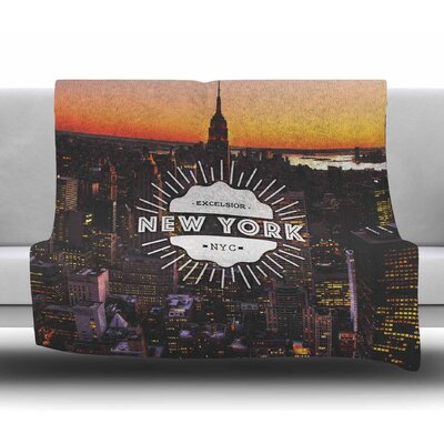 New York Fleece Blanket Size: 50 W x 60 L