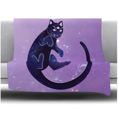 Cosmic Kitten Fleece Blanket Size: 60 W x 80 L