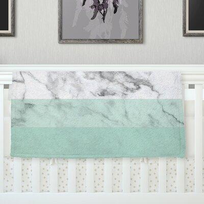 Mint Marble Fade Fleece Blanket Size: 40 L x 30 W x 1 D