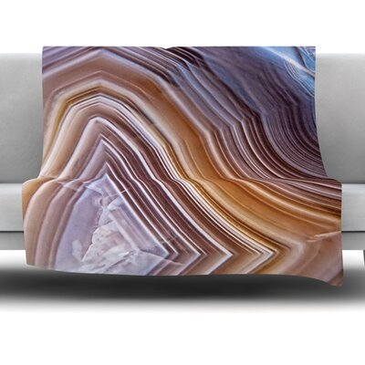 Pale Layered Agate Fleece Blanket Size: 60 W x 80 L