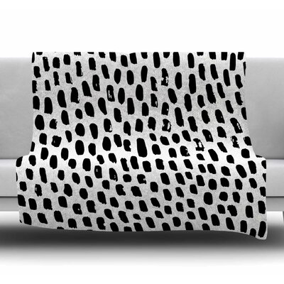 Ink Dots Fleece Blanket Size: 60 W x 80 L