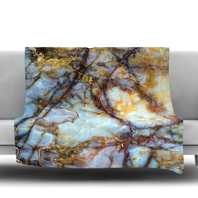 Opalized Marble Fleece Blanket Size: 50 W x 60 L