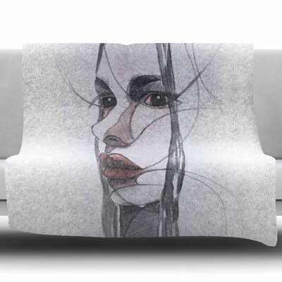 Young Girl by Maria Bazarova Fleece Blanket Size: 60 W x 80 L