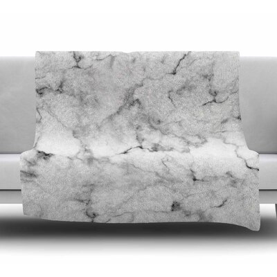 Marble Fleece Blanket Size: 50 W x 60 L