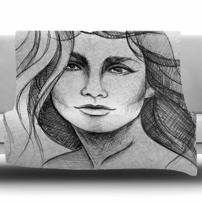 Fashion Woman by Maria Bazarova Fleece Blanket Size: 60 W x 80 L