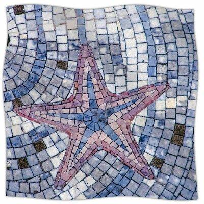 Mosaic Starfish By Debbra Obertanec Fleece Blanket Size: 60 L x 50 W x 1 D