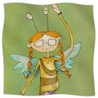 Urban Fairy Girl By Carina Povarchik Fleece Blanket Size: 80 L x 60 W x 1 D