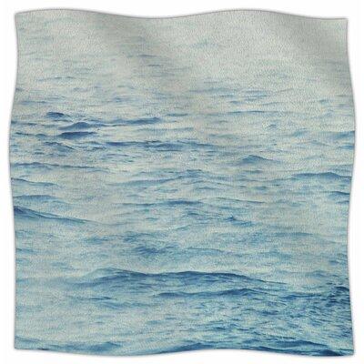 Foggy Morning Ocean By Debbra Obertanec Fleece Blanket Size: 80 L x 60 W x 1 D