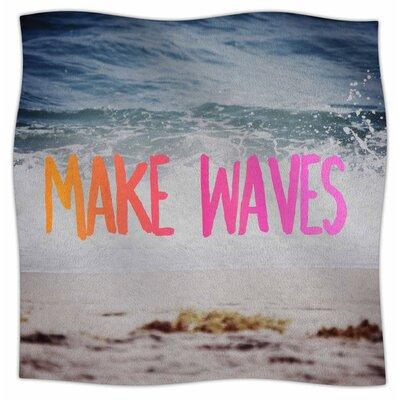 Make Waves By Chelsea Victoria Fleece Blanket Size: 60 L x 50 W x 1 D