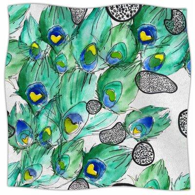 Peacockcell By Danii Pollehn Fleece Blanket Size: 60 L x 50 W x 1 D