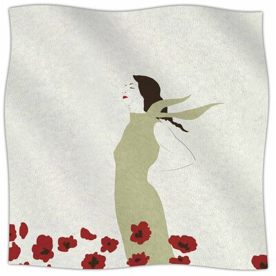 Poppy Field By Mayacoa Studio Fleece Blanket