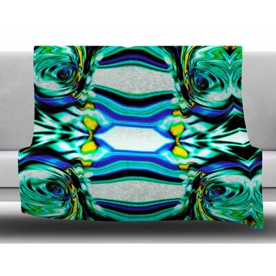 Inspired by Psychedelic Art 5 by Dawid Roc Fleece Blanket Size: 60 W x 80 L