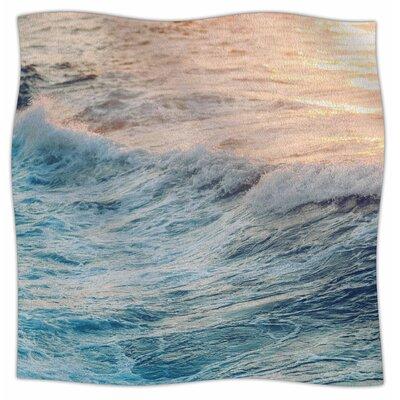 Sherbert Ocean By Chelsea Victoria Fleece Blanket Size: 80 L x 60 W x 1 D