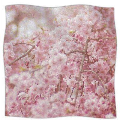Spring Pinks By Debbra Obertanec Fleece Blanket Size: 60 L x 50 W x 1 D