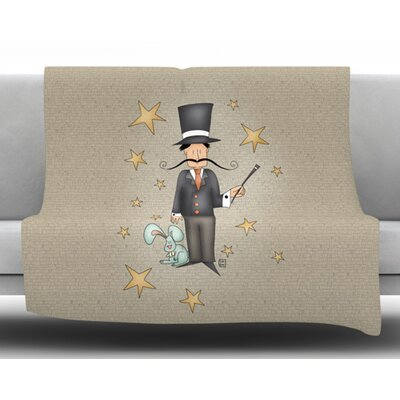 Circus Magician by Carina Povarchik Fleece Blanket Size: 60 W x 80 L