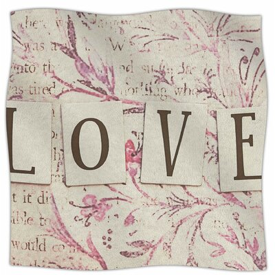 Simply Love By Debbra Obertanec Fleece Blanket Size: 80 L x 60 W x 1 D