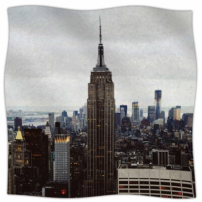 New York Stories By Chelsea Victoria Fleece Blanket Size: 60 L x 50 W x 1 D