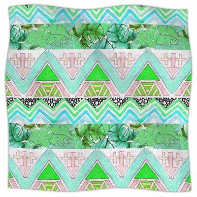 Tropicalstripes By Danii Pollehn Fleece Blanket Size: 80 L x 60 W x 1 D