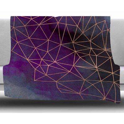 Watercolor Storm by Cafelab Fleece Blanket Size: 50 W x 60 L