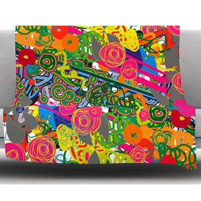 Psychedelic Garden by Frederic Levy Hadida Fleece Blanket Size: 60 W x 80 L