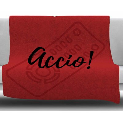 Accio! Remote by Jackie Rose Fleece Blanket Size: 50 W x 60 L
