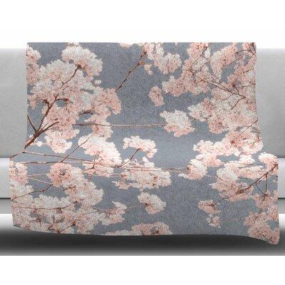 Rosy Sky by Iris Lehnhardt Fleece Blanket Size: 50 W x 60 L