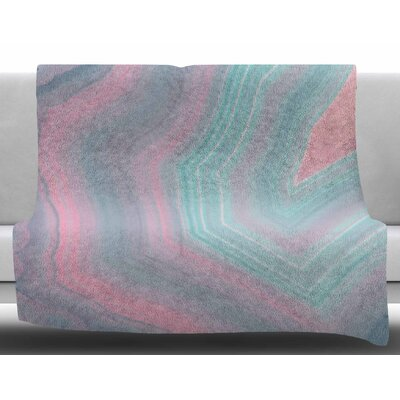 Sweet Pastel Agate by Cafelab Fleece Blanket Size: 50 W x 60 L