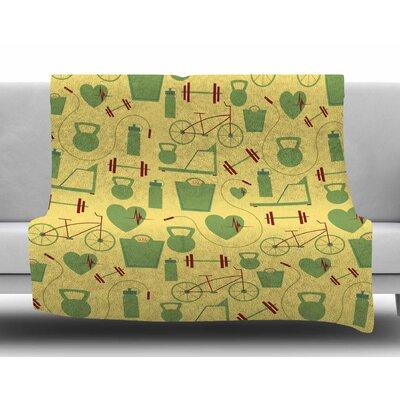 Fitness By Stephanie Vaeth Fleece Blanket Size: 60 L x 50 W x 1 D