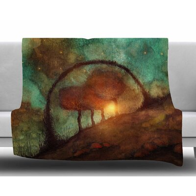 Track 28: Sunset And Dreams II by Viviana Gonzalez Fleece Blanket Size: 50 W x 60 L