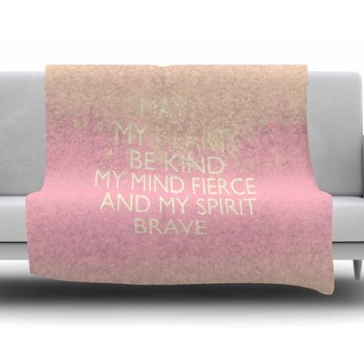 Kind by Suzanne Carter Fleece Blanket Color: Pink, Size: 60 W x 80 L