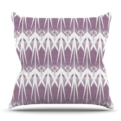 Arrow Lavender by Alison Coxon Outdoor Throw Pillow