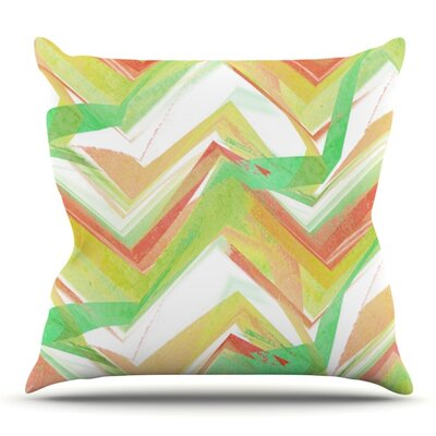 Summer Party Chevron by Alison Coxon Outdoor Throw Pillow