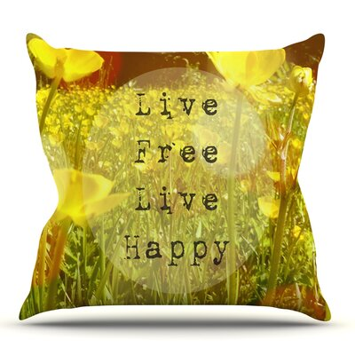 Live Free by Alison Coxon Outdoor Throw Pillow