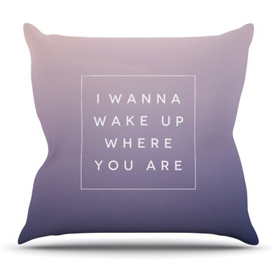 Wake Up by Galaxy Eyes Outdoor Throw Pillow