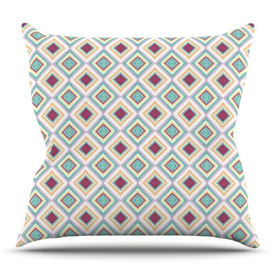 Hip Diamonds by Empire Ruhl Outdoor Throw Pillow