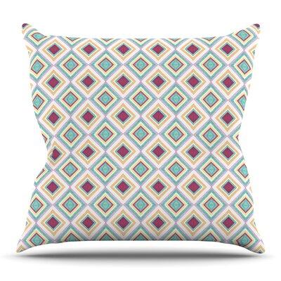 Hip Diamonds by Empire Ruhl Outdoor Throw Pillow