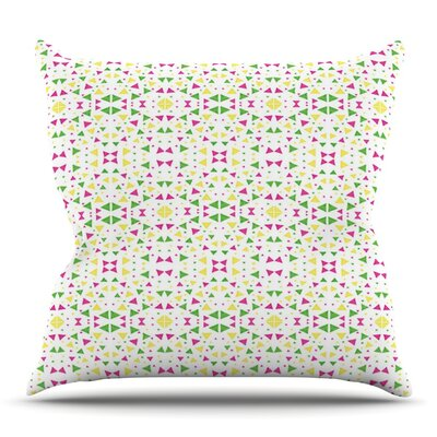 Neon Triangles by Empire Ruhl Outdoor Throw Pillow