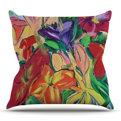 Matisse Styled Lillies by Cathy Rodgers Outdoor Throw Pillow