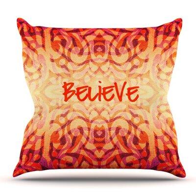 Tribal Believer by Alveron Outdoor Throw Pillow