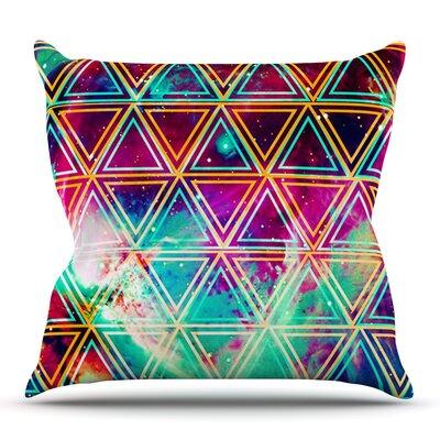 Neon Geo Galaxy by Alveron Outdoor Throw Pillow