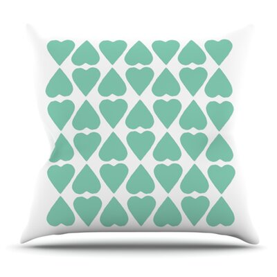 Diamond Hearts by Project M Outdoor Throw Pillow