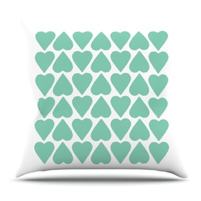 Up and Down Hearts by Project M Outdoor Throw Pillow