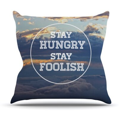 Stay Hungry by Skye Zambrana Outdoor Throw Pillow