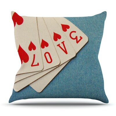 Love by Skye Zambrana Outdoor Throw Pillow
