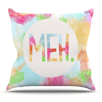 Meh by Skye Zambrana Outdoor Throw Pillow